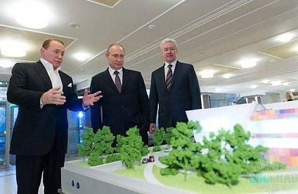 Путин и мэр столицы Собянин в Планета КВН