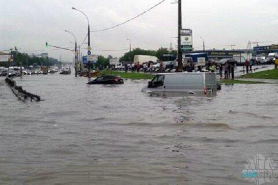 Затопило Боровское шоссе