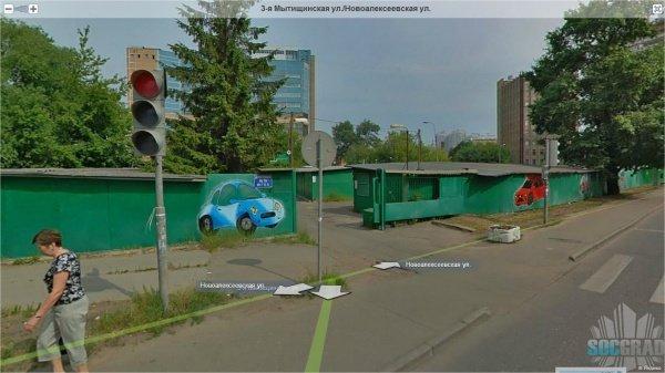 Гаражи на Новоалексеевской улице