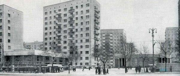Площадь перед метро Алексеевская 1966 г.