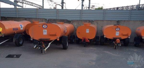 Неиспользуемые бочки для полива на базе ГБУ Жилищник Алексеевского района